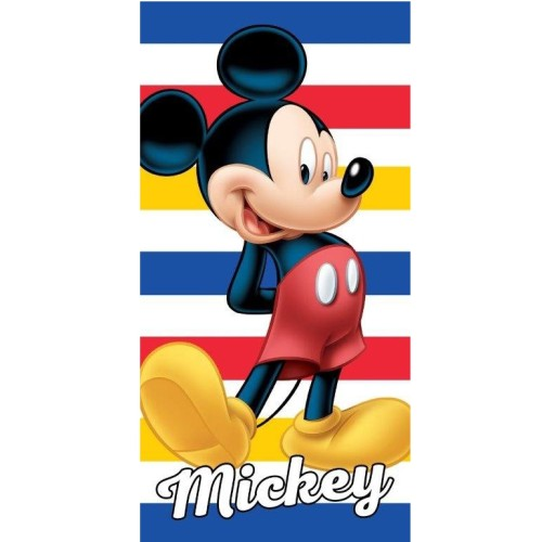 Badlaken Mickey Mouse stripes (MM_06): 70x140 cm