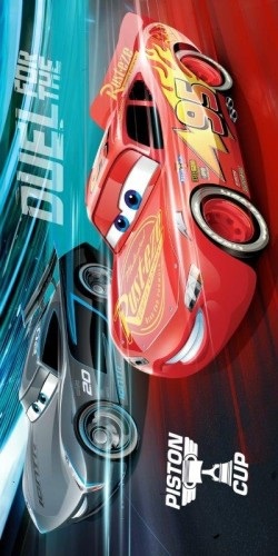 Badlaken Cars Piston cup: 70x140 cm