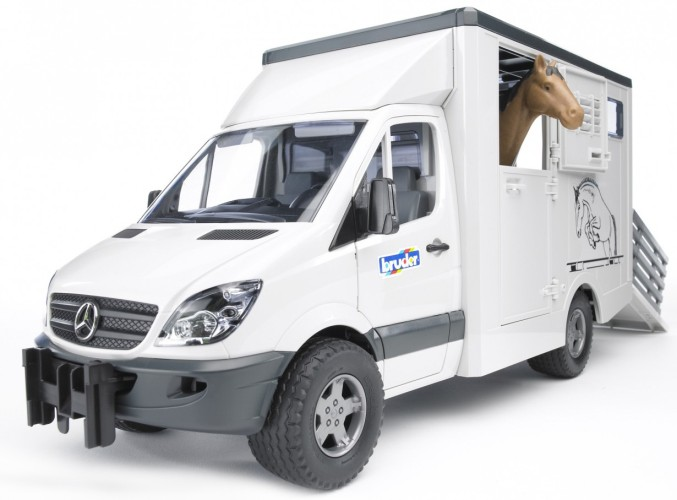 Mercedes Benz Sprinter paardentransport Bruder (02533)