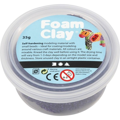Foam Clay Creotime glitter: paars 35 gram (78867)
