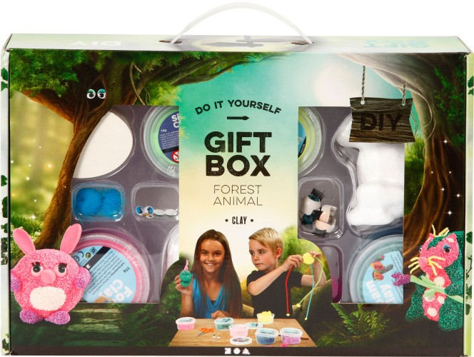 Foam Clay Creotime: giftbox dieren (98117)