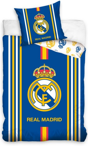 Dekbed Real Madrid stripes (RM18_2028): 140x200/70x80 cm