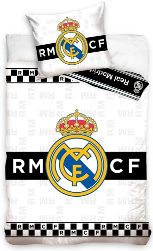 Dekbed Real Madrid checkers (RM18_1051): 140x200/70x90 cm