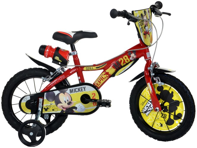 Kinderfiets Dino Bikes Mickey Mouse: 14 inch (614L-MY)