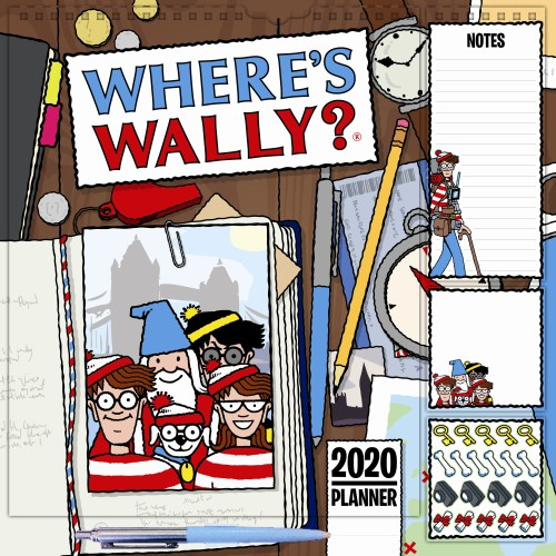 Familieplanner Where`s Wally 2020: 30x30 cm (105256)