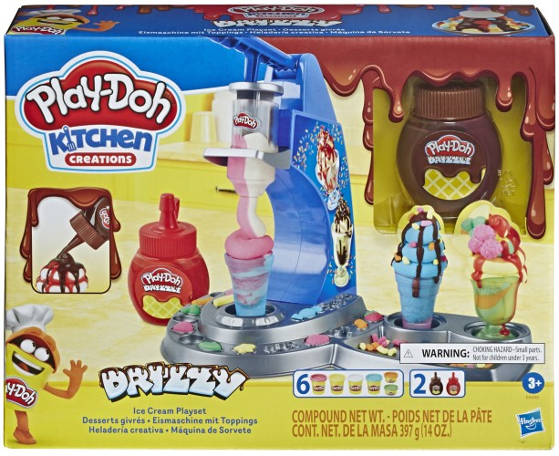 Drizzy IJsmachine met toppings Play-Doh: 284 gram (E6688)