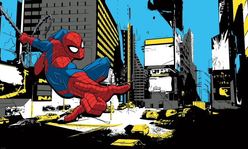 Stickerbehang Spider-Man RoomMates: 91x152 cm (RMK3470PSM)