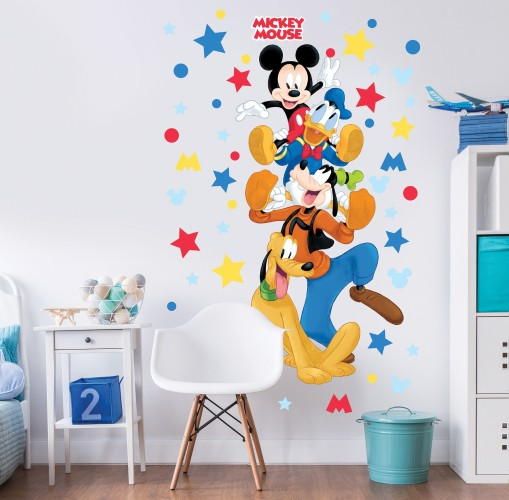 Muursticker Mickey Mouse Walltastic: 122 cm (45781)
