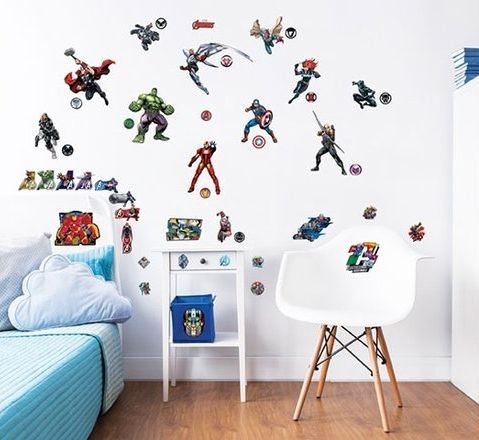 Muursticker Avengers Walltastic: 47 stickers (44760)