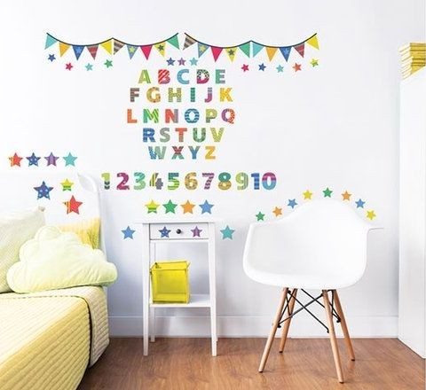 Muursticker ABC Walltastic: 75 stickers (44920)