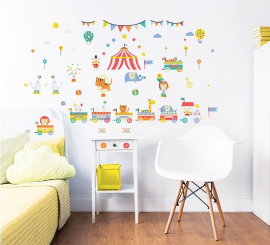 Muursticker circus Walltastic: 56 stickers (44968)