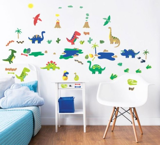 Muursticker dino`s Walltastic: 58 stickers (45026)