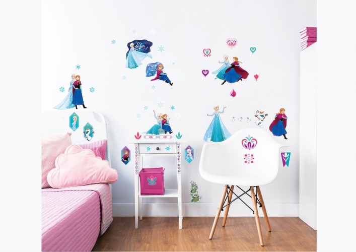 Muursticker Frozen Walltastic: 53 stickers (45088)