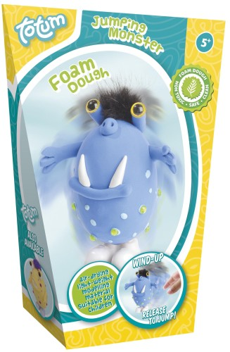 Foamdough ToTum springend monster: blauw (025394)